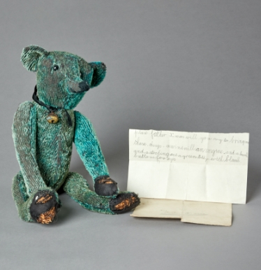 Old Toy Bear and Letter
